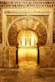 Mihrab in Mosque of Cordoba (La Mezquita), Spain