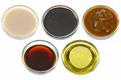 image of soy sauce  - Different Bowls of Soybean  - JPG