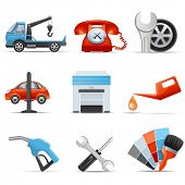 foto of adjustable-spanner  - Car service and repair icons - JPG