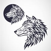 stock photo of wolf-dog  - Wolf Emblem - JPG