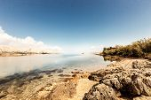 Tranquil sea mirror Pag Croatia, Adriatic Mediterranean Sea, nature �?�??�?��?�° Dalmatia