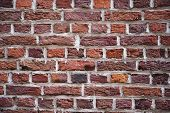 Close up image of a brick wall background