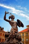 Siren Monument, Old Town In Warsaw, Poland