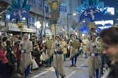 GRANADA, SPAIN - JANUARY 5: Celebration of Three Kings' Day in Granada, Spain on January 5, 2013. Sweets are widely given in this evening