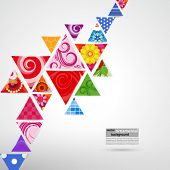 abstract ornamental triangle background