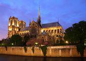 Notre Dame, Paris at night.