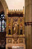 Wooden Statue In Church