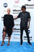 LOS ANGELES -  MAY 19:  Wiz Khalifa and Amber Rose arrives at the Billboard Music Awards 2013 at the