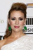 LOS ANGELES -  MAY 19:  Alyssa Milano in the press room at the Billboard Music Awards 2013 at the MG