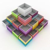 3d illustration of colorful geometrical figure