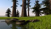 python in jungle lake