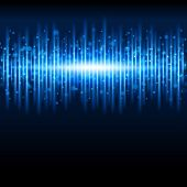 Abstract blue waveform background. Raster version from vector version.