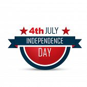 stock photo of election campaign  - american independence day vector label design - JPG