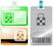Bag. Raster id cards.