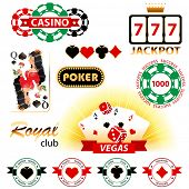 Great set of casino signs and emblems