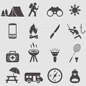 Camping set de iconos.Vector