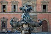 Piazza della Santissima Annunziata in Florence Italy