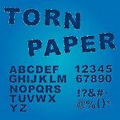 Fonte de papel rasgado