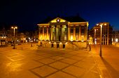 City Hall In Groningen At Night