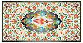 Osmanische Kunst der Beleuchtung bunt