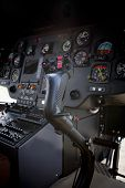Control Stick In Helicopter Cockpit