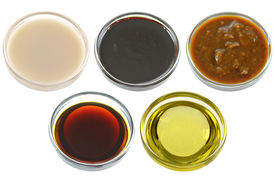 pic of soy sauce  - Different Bowls of Soybean  - JPG