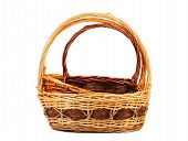 vintage weave wicker basket