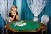 Poker Girl Won Money