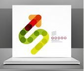 Arrow background abstract geometric design template
