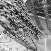 Black & White chains with selective focus