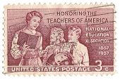 United States Stamp Honoring Teachers of America