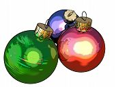 Christmas balls (use of ToonCamera by CodeOrgana)