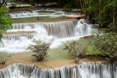 Beautiful Tropical Waterfall in forest of Thailand