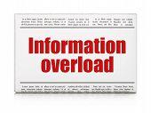 Data concept: newspaper headline Information Overload