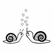 couple of snails in love sketch