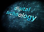 Data concept: Digital Technology on digital background