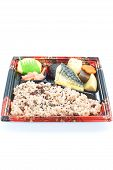 Contemporary Japanese ready -made lunchbox (bento box)