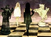 Confrontation Of Chess Queens.