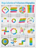 Mega collection  infographic template business concept vector il