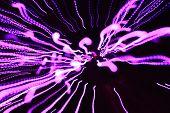 Color Backround and Computer Screensaver - Purple Warp