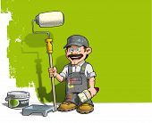 Handyman - Wall Painter Gray Uniform.