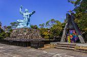Peace Monument in Nagasaki Peace Park