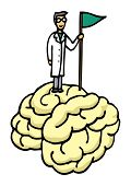 Scientist Conquering Brain