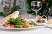 Caesar Salad And Wine
