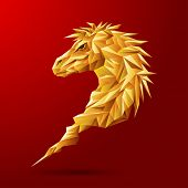 Gold Geometric horse