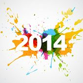 colorful abstract style happy new year design