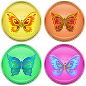 Buttons with butterflies