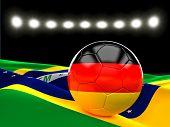 german soccer ball 3d image