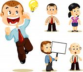 picture of cartoon character  - Set of people about Business activity in office - JPG