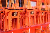 Small praying torii cards at the Fushimi Inari Shrine